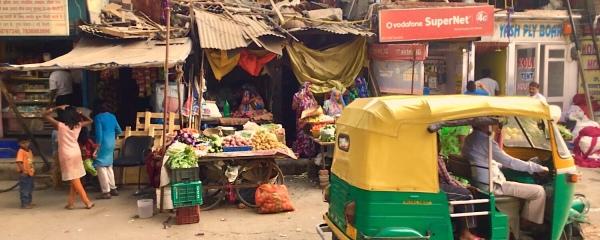 Street in Delhi India